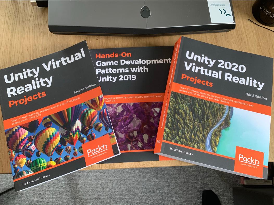 Anbefalede bøger om VR udvikling i Unity første del af 2021